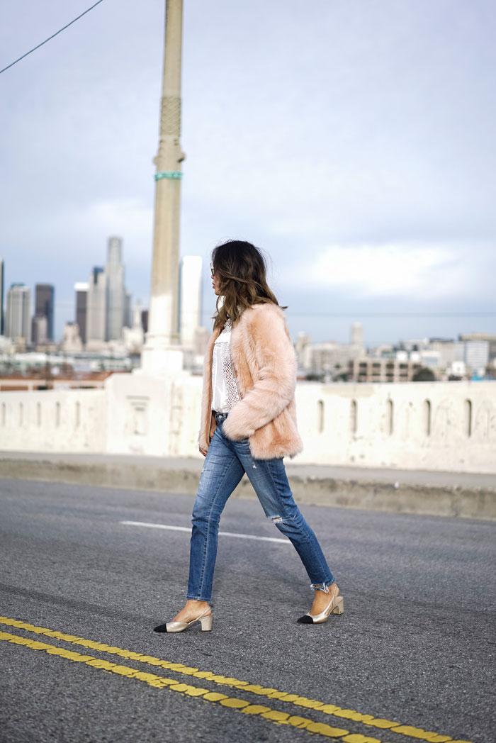 Xoxo_Lova_pink_coat_ag_jeans_chanel_slings